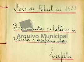 Documentos de receita e despesa da capela do ano de 1931