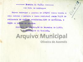 Documentos de receita e despesa da capela do ano de 1932