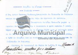 Documentos de receita e despesa do parque do ano de 1933